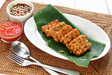 fried tempeh, indonesian food