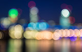 Boken background city skyline light