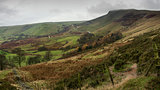 Autumn Fall landscape of Mam Tor in Peak District UK
