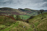 Autumn Fall countryside landscape of Derwent Valley in Peak Dist