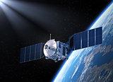 Satellite. 3D Scene