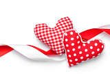 Valentines day handmade toy hearts
