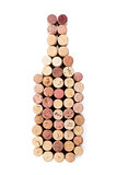 Wine bottle shaped corks