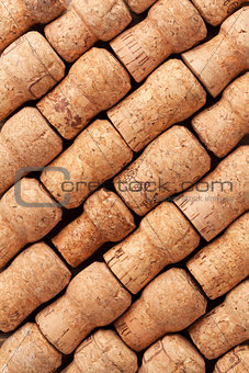 Champagne corks texture