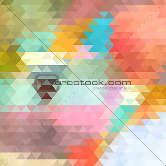 bright background of the triangles