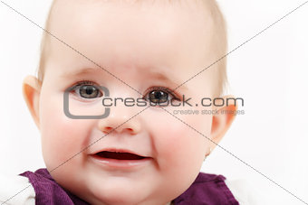 grinning infant baby