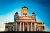 Helsinki Cathedral, Helsinki, Finland. Summer Sunset Evening
