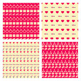 Love Seamless pattern set