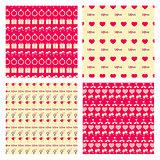 Love Seamless pattern set
