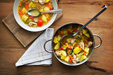Stew with vegetable