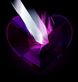 purple heart-crystal and blade