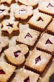 Linzer cutout cookies