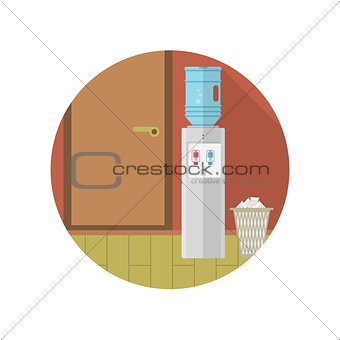 Flat vector icon for office interior