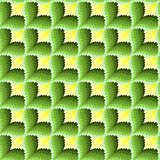 Green and yellow ornamental seamless pattern