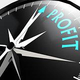 Profit word on compass