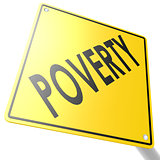 Road sign with poverty