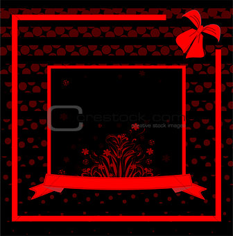 abstract flower spring illustration vector black red background