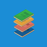 Set of 4 isometric books