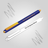 Set of 2 pens isolated on ligh background