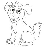 Cartoon puppy, vector illustration of cute dog