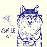 Husky smile  doodle