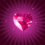 Valentine crystal love heart