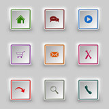 Surface color web buttons square template