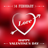 Valentines poster with red background
