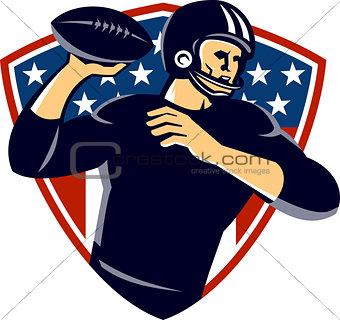 American Quarterback Football Player Passing Shield