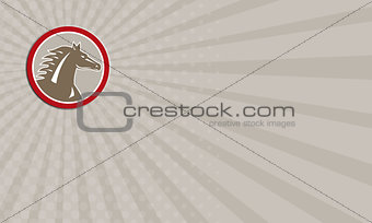 Business card Horse Head Angry Circle Retro