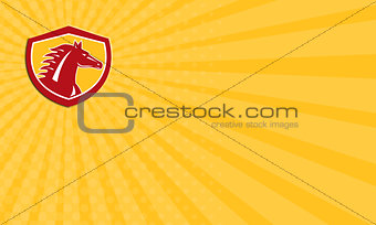 Business card Horse Head Angry Shield Retro