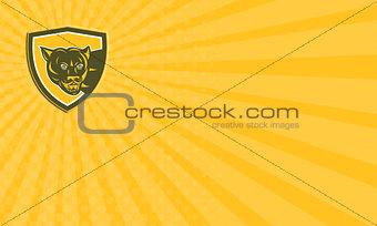 Business card Puma Mountain Lion Head Prowl Shield Retro