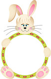 Easter Bunny with Round Frame