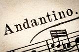 Andantino - slow music tempo