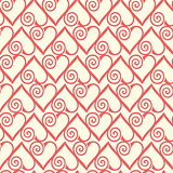 Seamless pattern with stylized hearts. Romantic background Valentines Day