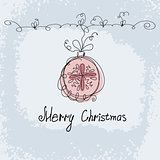 hand drawn christmas ball vector.