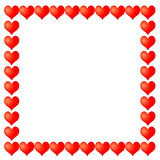 vector frame from hearts