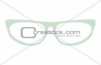 Green glasses vector illustration isolated on white background.