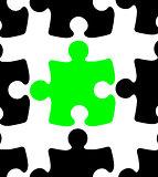 Green Jigsaw Puzzle Piece