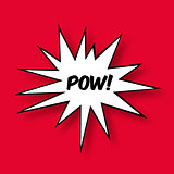 The word Pow in a Comic Book Star