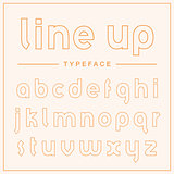 Super thin outline display typeface.