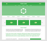 Green modern responsive website template.
