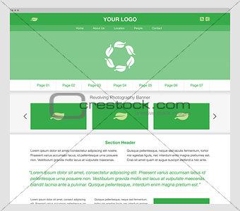 Green modern responsive website template.