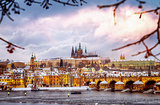 Beautiful Prague in winter
