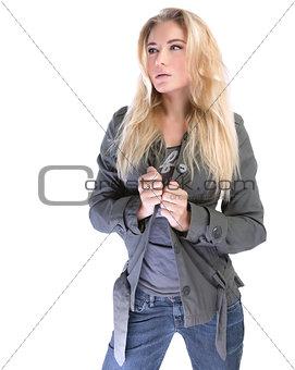 Beautiful stylish woman