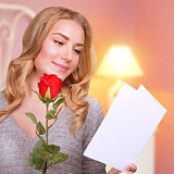 Romantic woman in Valentine day