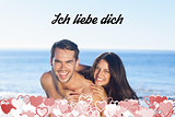 Composite image of ich liebe dich