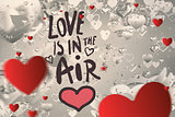 Composite image of valentines message