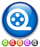 Simple film reel icon