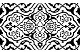 black artistic ottoman pattern series fifty six